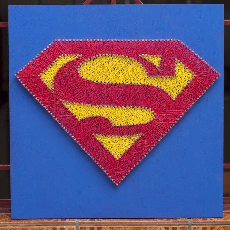 Red,Superman,Justice league,Textile,Fictional character,Superhero,Rug