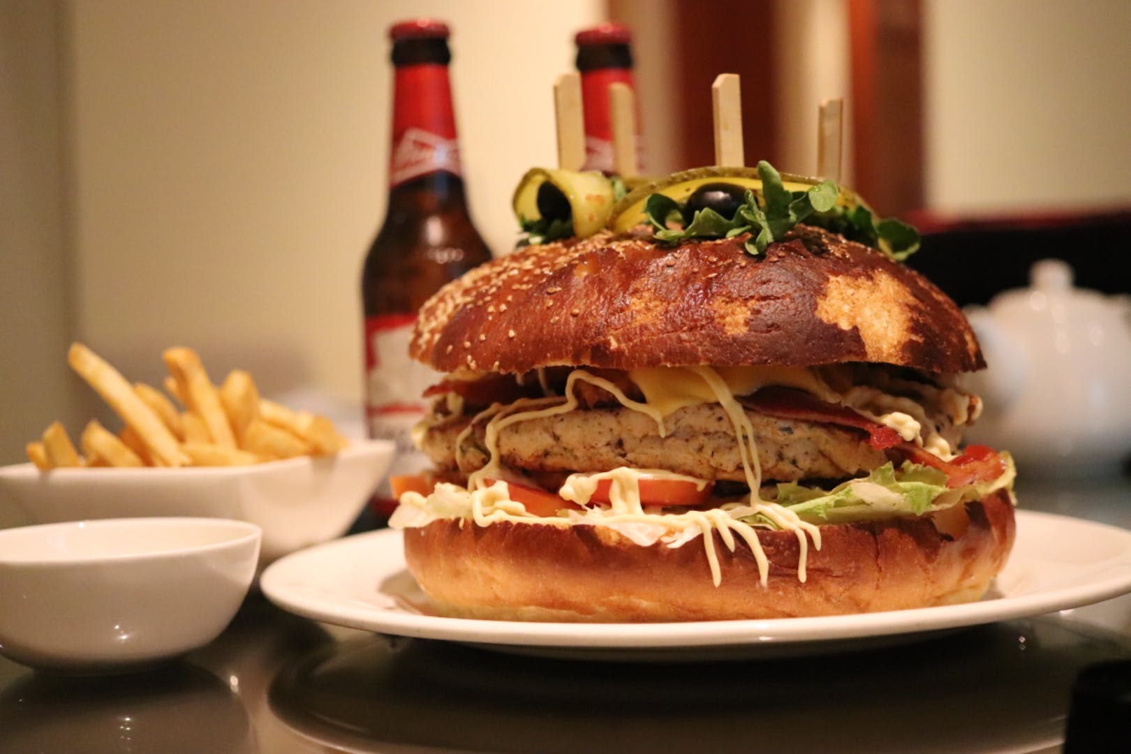 Challenge Your Appetite With A Huge & Scrumptious Burger at JW Marriott