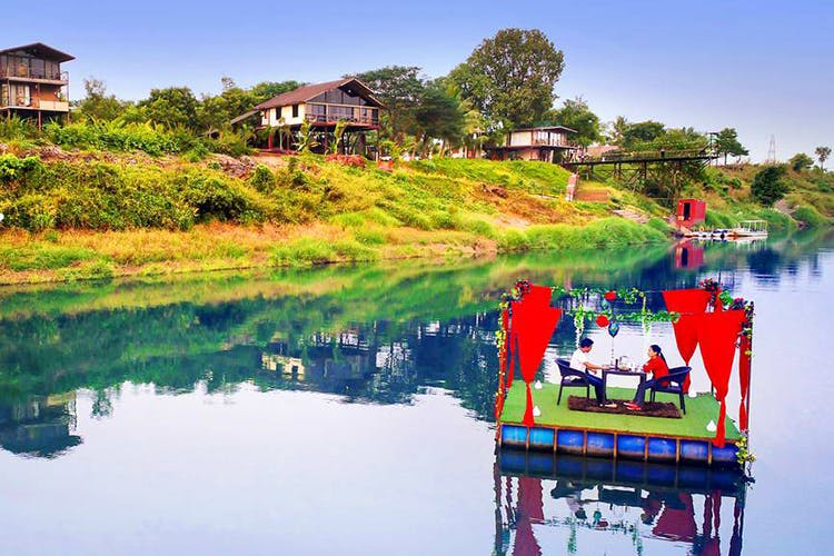 Reflection,Nature,Water,Red,Sky,River,Waterway,Lake,House,Leisure