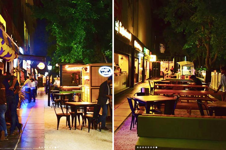 Night,Restaurant,Table,Building,Leisure