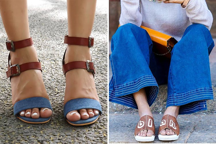Footwear,Sandal,Street fashion,Blue,Leg,Shoe,Ankle,Toe,Human leg,Foot