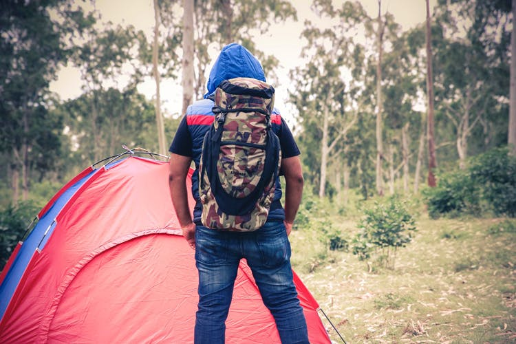 Red,Natural environment,Backpacking,Youth,Fun,Wilderness,Adventure,Tree,Friendship,Leaf