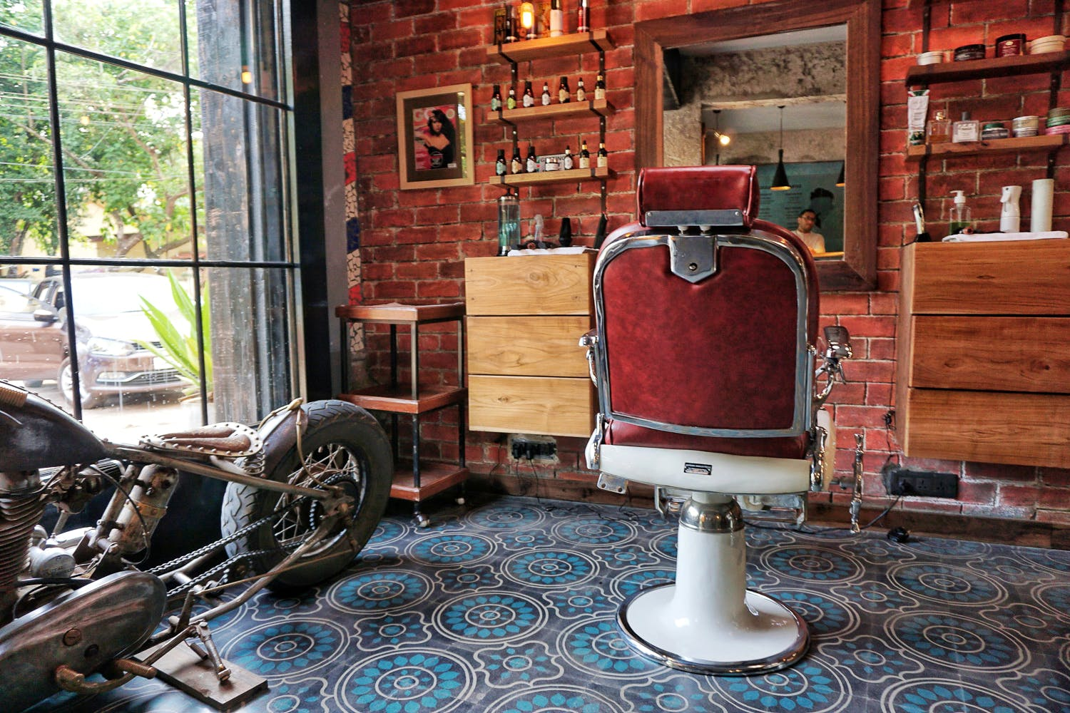 Barber chair,House,Room,Brickwork,Chair,Wood,Furniture,Classic,Architecture,Window