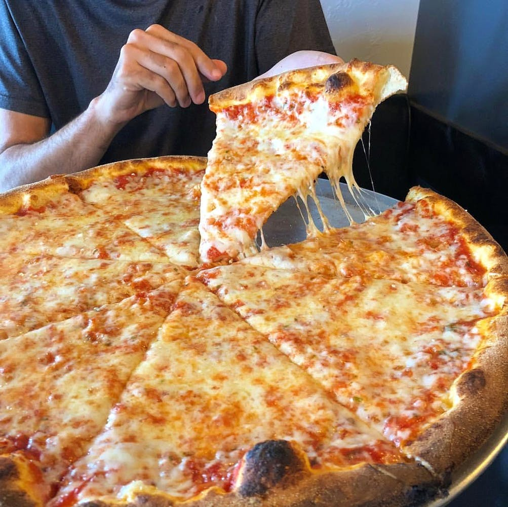 Dish,Food,Pizza cheese,Pizza,Cuisine,Sicilian pizza,Junk food,California-style pizza,Ingredient,Baked goods