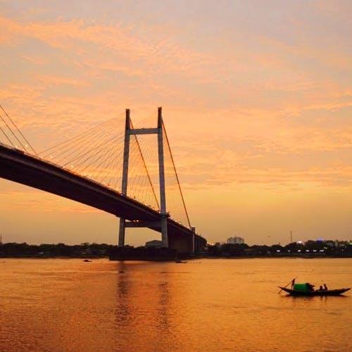 Bridge,Cable-stayed bridge,Sky,Suspension bridge,River,Sunset,Afterglow,Evening,Morning,Extradosed bridge