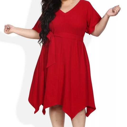 Clothing,Dress,Day dress,Sleeve,Red,Neck,Shoulder,Cocktail dress,Waist,A-line