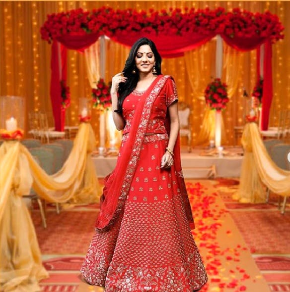 Clothing,Formal wear,Red,Dress,Sari,Gown,Yellow,Tradition,Peach,Bride