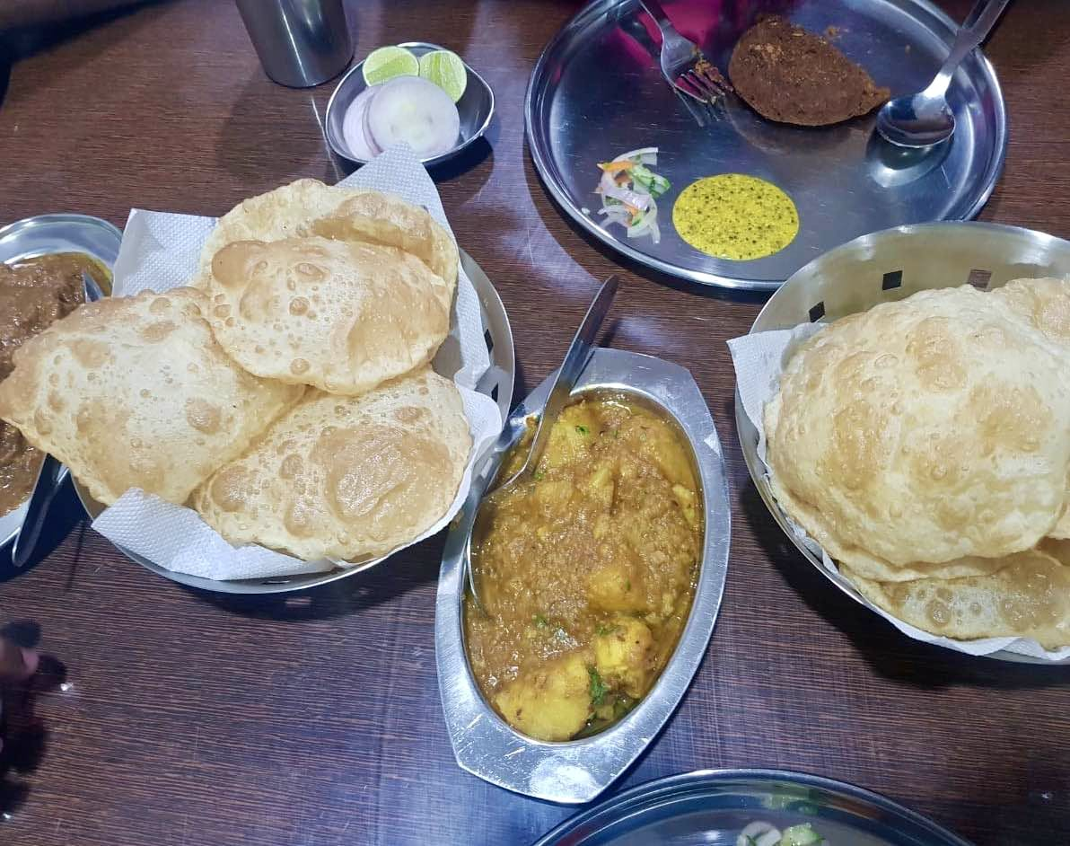 Dish,Food,Cuisine,Ingredient,Puri,Meal,Lunch,Chole bhature,Produce,Roti prata