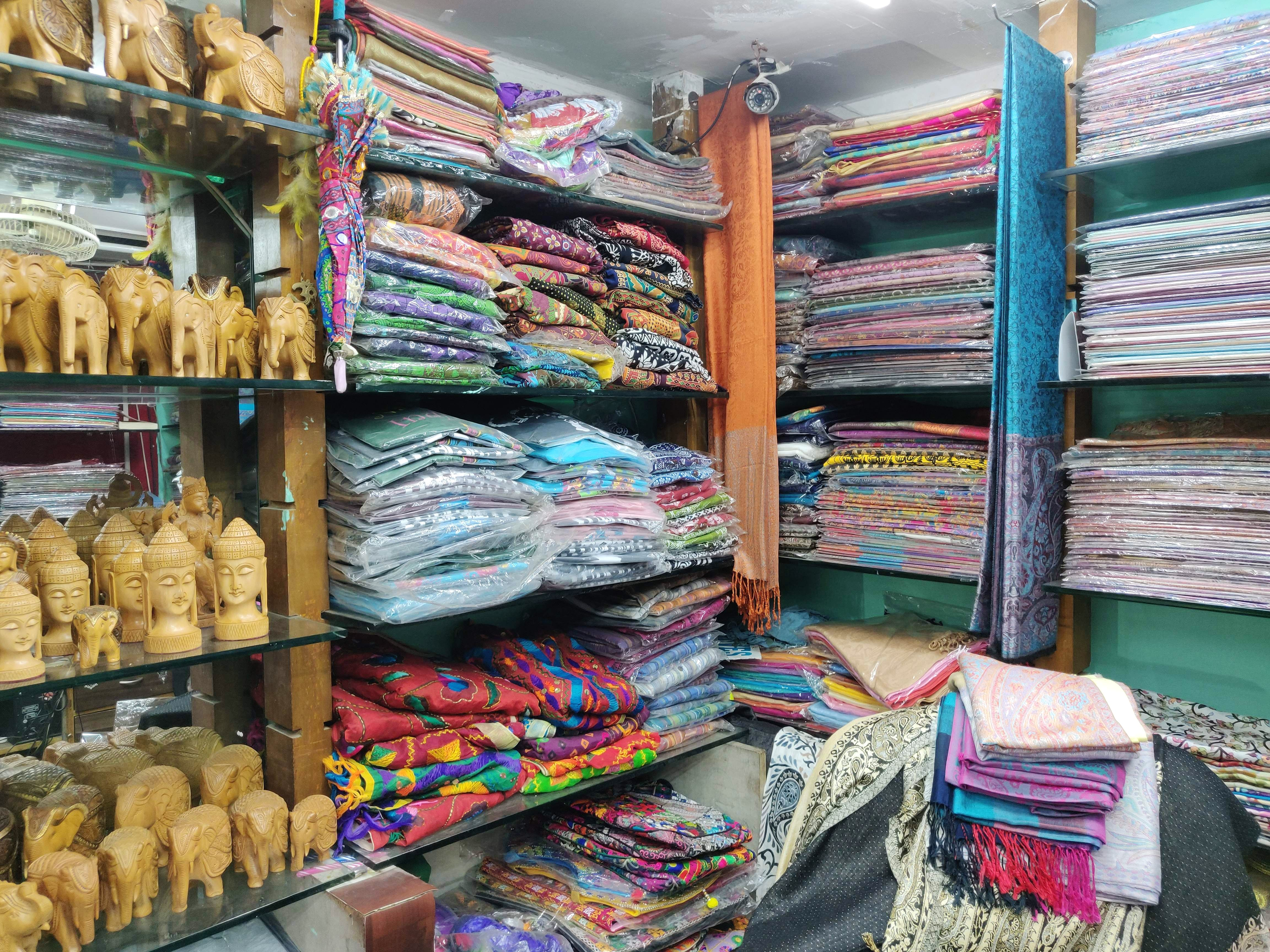 This shop in Brigade road has a variety of Pashmina shawls and you must visit!