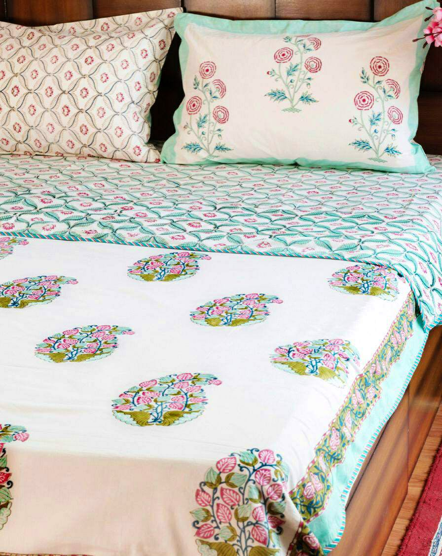 Bedding,Bed sheet,Textile,Pillow,Furniture,Cushion,Bed,Pink,Linens,Turquoise
