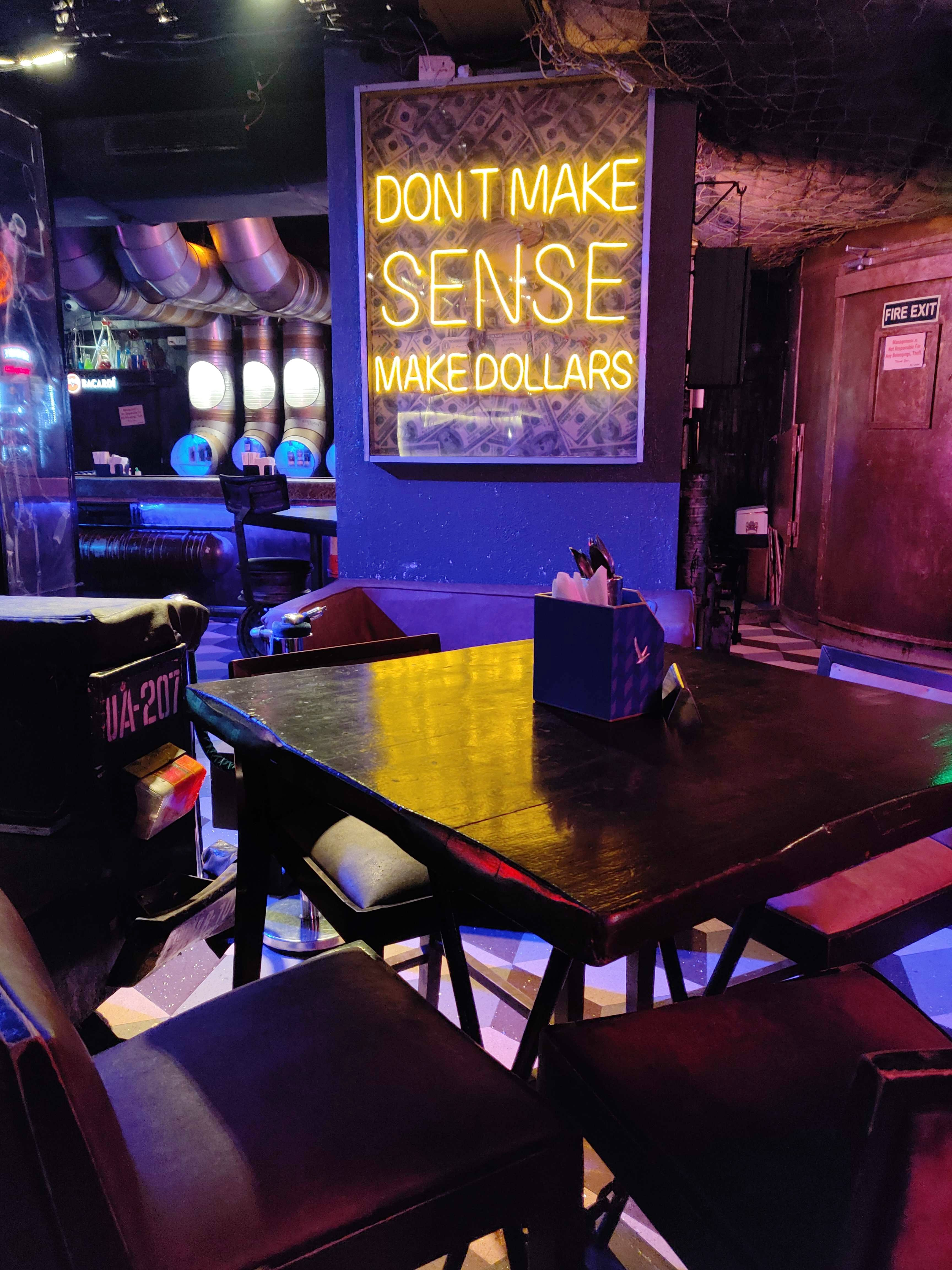 Yeda Republic Is Evil Styled Lounge Bar With Space Suit & Dark Alleys