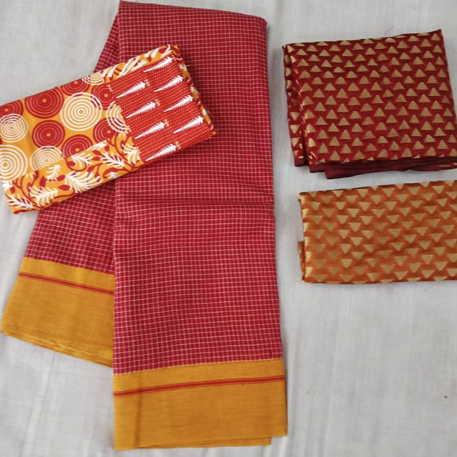 Orange,Textile,Linens,Pattern,Kitchen towel,Peach,Patchwork,Plaid,Pattern,Fashion accessory
