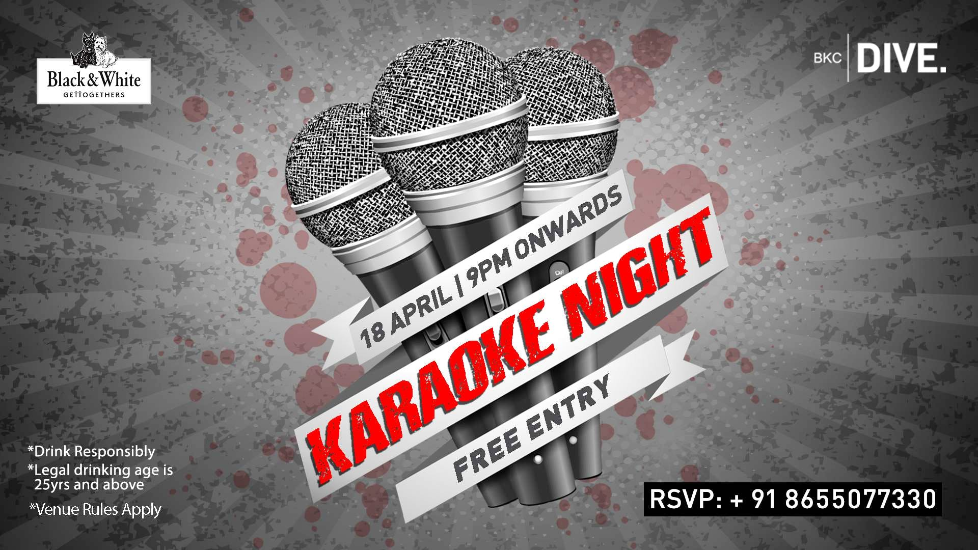 Black and White Nights presents Karaoke Night at BKC Dive this Thursday