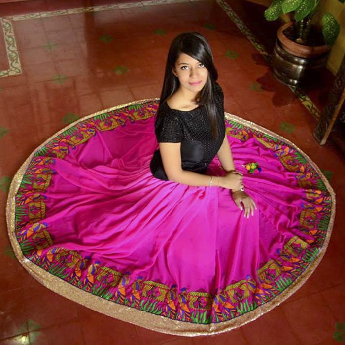 Clothing,Pink,Magenta,Textile,Dress,Formal wear,Pattern
