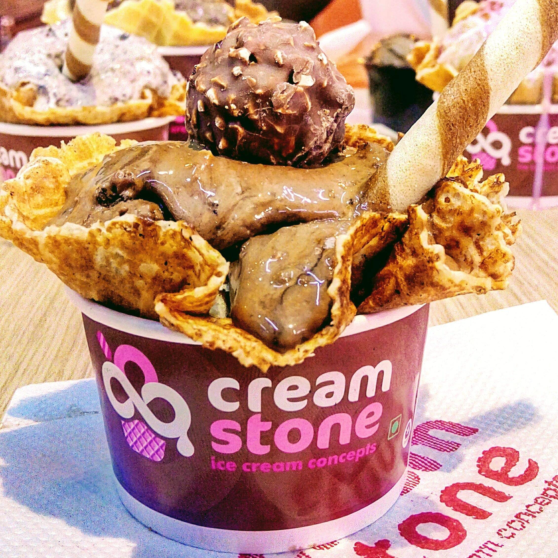 Ferrero Rocher Icecream @ Creamstone...