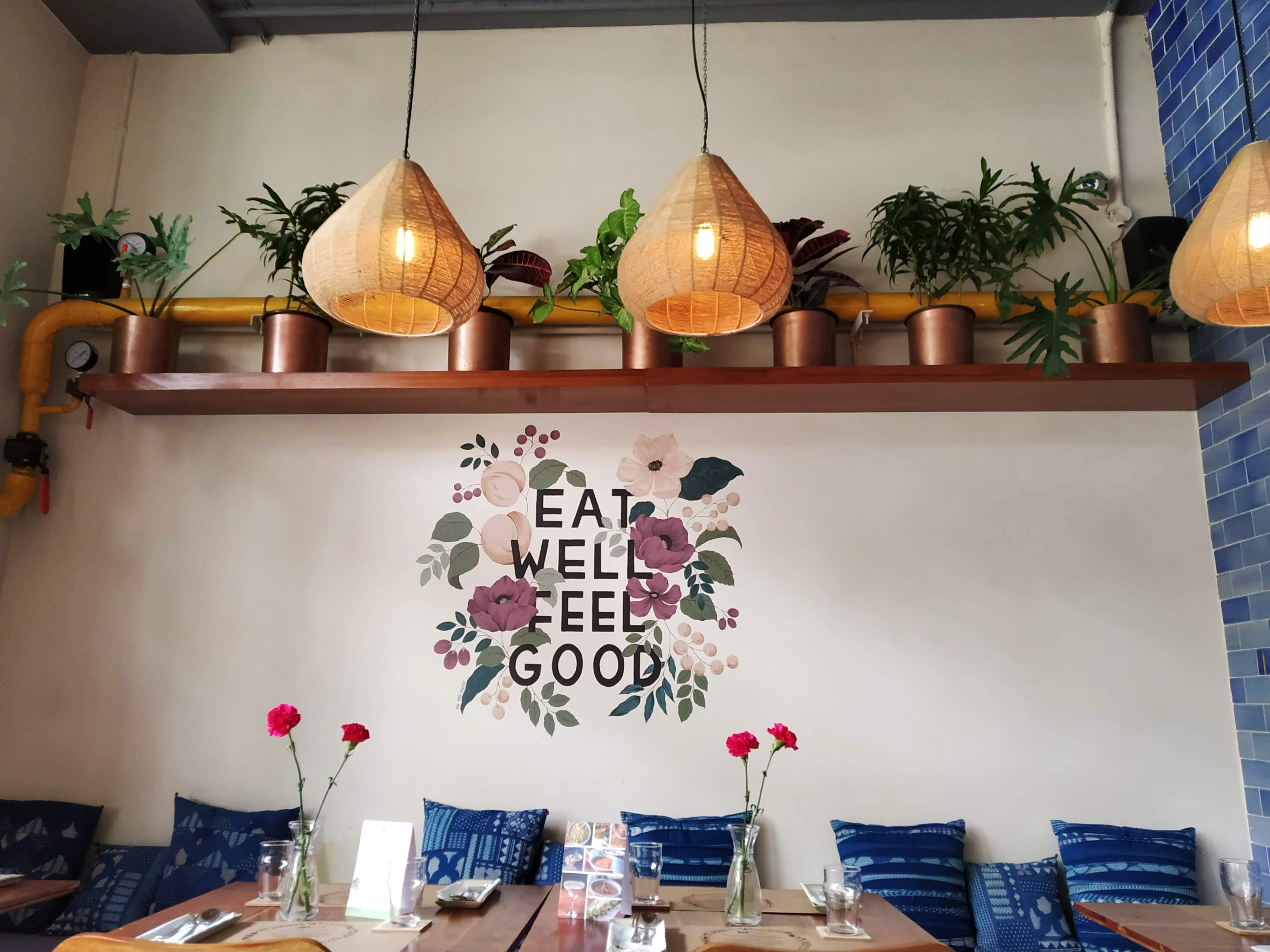 Fabulous Indigo Cafe,with an organic touch