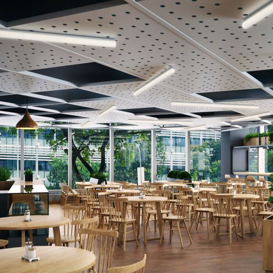 Building,Restaurant,Ceiling,Interior design,Architecture,Lighting,Room,Cafeteria,Table,Roof
