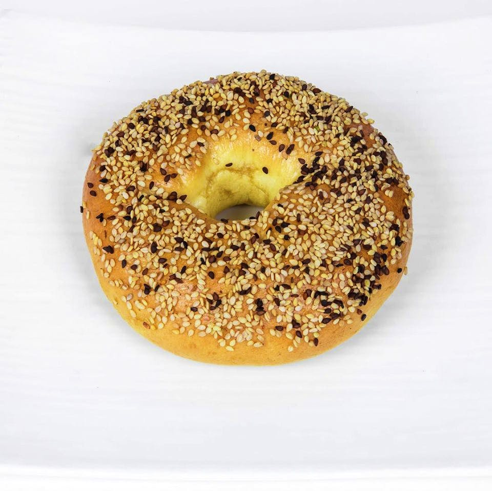 Bagel,Food,Dish,Cuisine,Ingredient,Baked goods,Sesame,Bialy,Doughnut,Produce