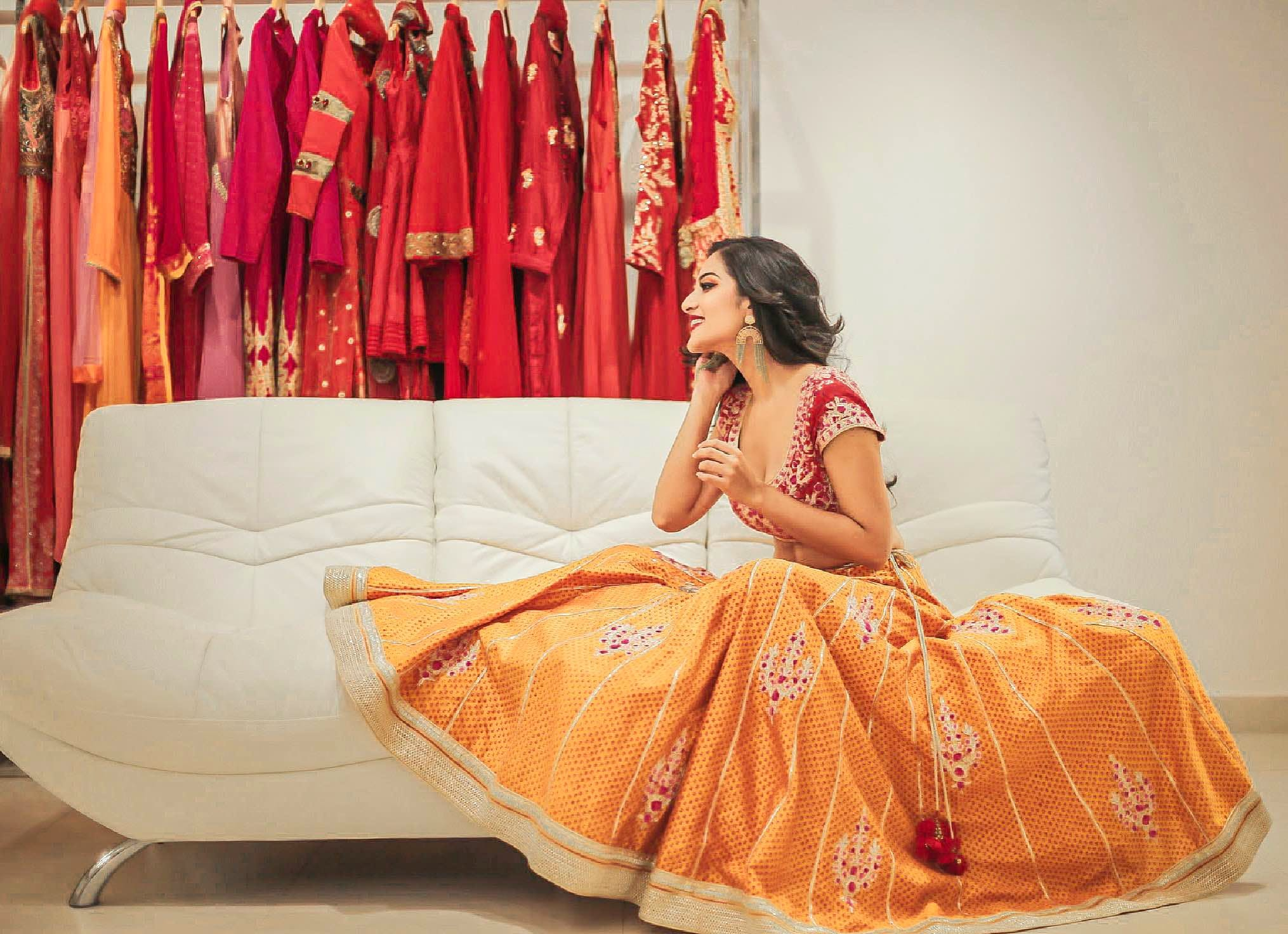 Orange,Clothing,Yellow,Sari,Formal wear,Dress,Peach,Pink,Fashion,Tradition
