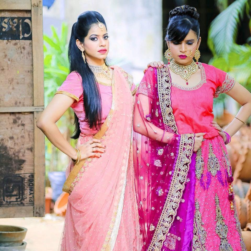 Pink,Sari,Clothing,Formal wear,Magenta,Yellow,Dress,Peach,Fashion design,Textile