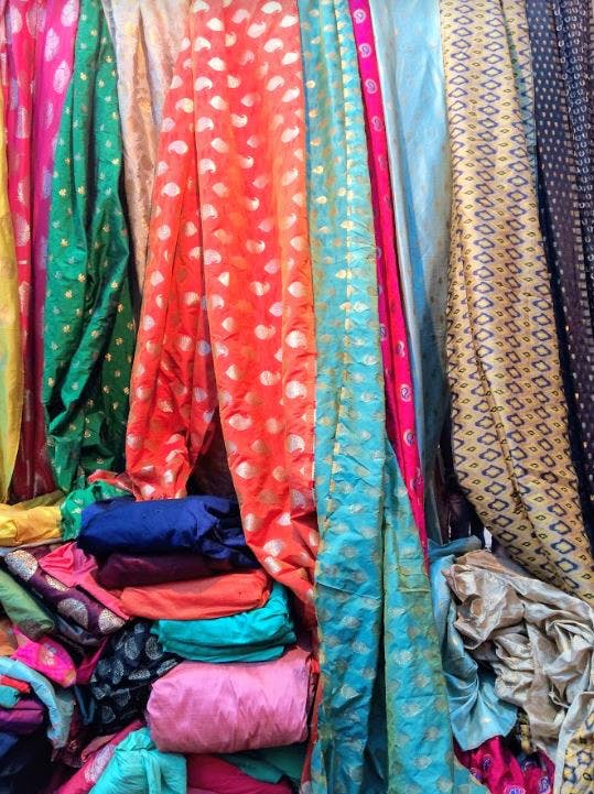 From Brocade To Chikankari: Find Yards Of Stunning Fabric At This Weekly Market
