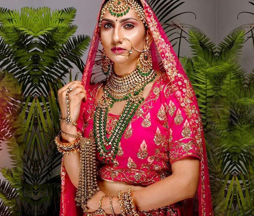 Tradition,Beauty,Pink,Sari,Design,Pattern,Jewellery,Bride,Magenta,Mehndi