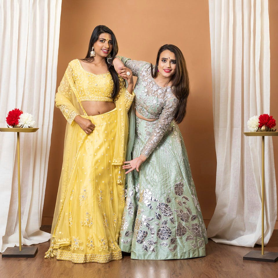 Clothing,Yellow,Formal wear,Dress,Gown,Fashion,Tradition,Sari,Peach,Bride