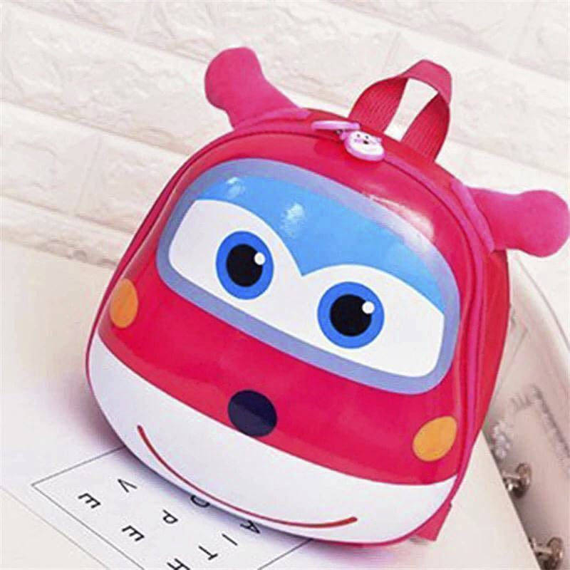 Cartoon,Pink,Water bottle,Coin purse,Animation,Font,Smile,Fashion accessory,Bag,Backpack
