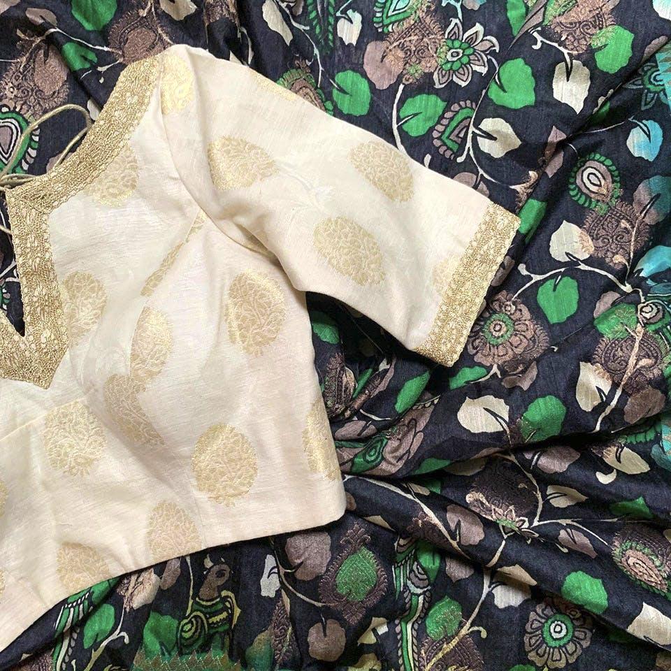 Green,Pattern,Textile,Design,Beige,Dress,Visual arts,Silk,Motif,Linens