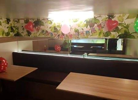 Property,Interior design,Room,Table,Furniture,Building,Restaurant,Plant,House,Floor