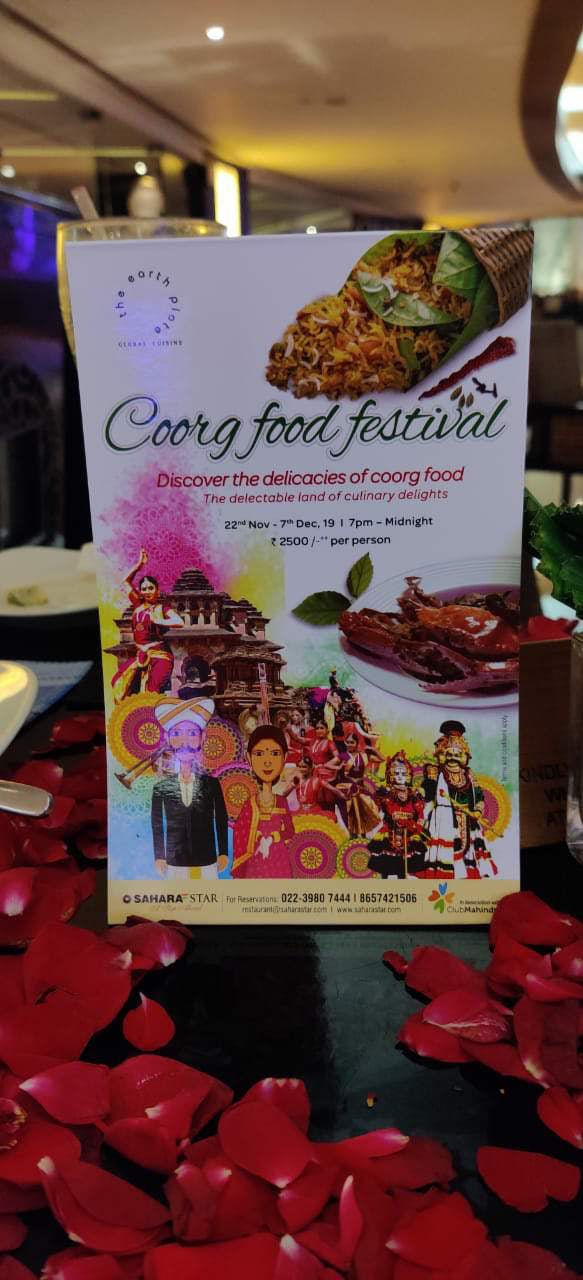 image - Coorg Food Festival, The Earth Plate