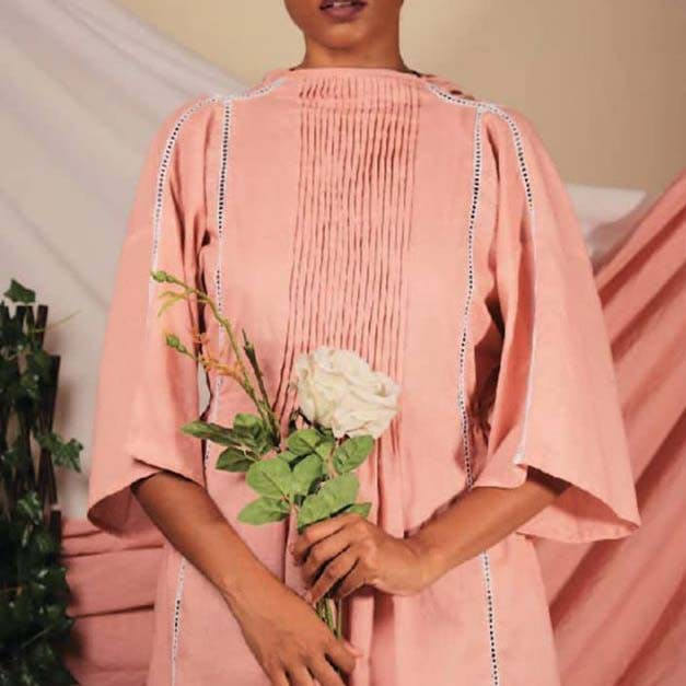 Clothing,Pink,Peach,Robe,Shoulder,Fashion,Sleeve,Neck,Outerwear,Textile