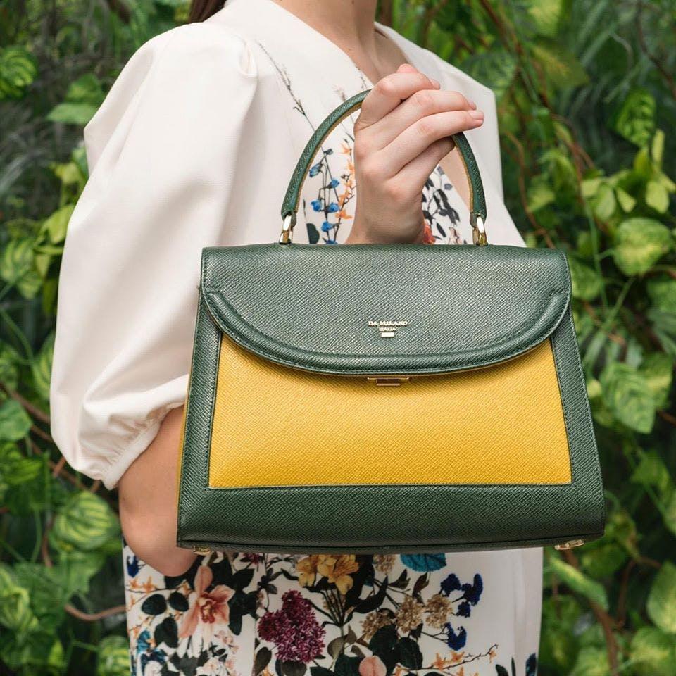 Bag,Handbag,Shoulder,Green,Fashion accessory,Shoulder bag,Yellow,Joint,Leather,Fashion