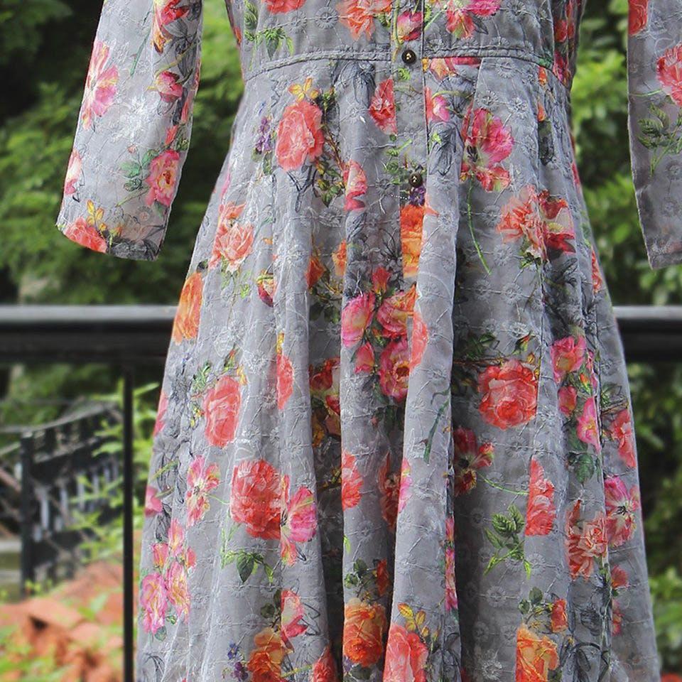 Clothing,Day dress,Dress,Orange,Red,Leaf,Pattern,Pink,Textile,Pattern