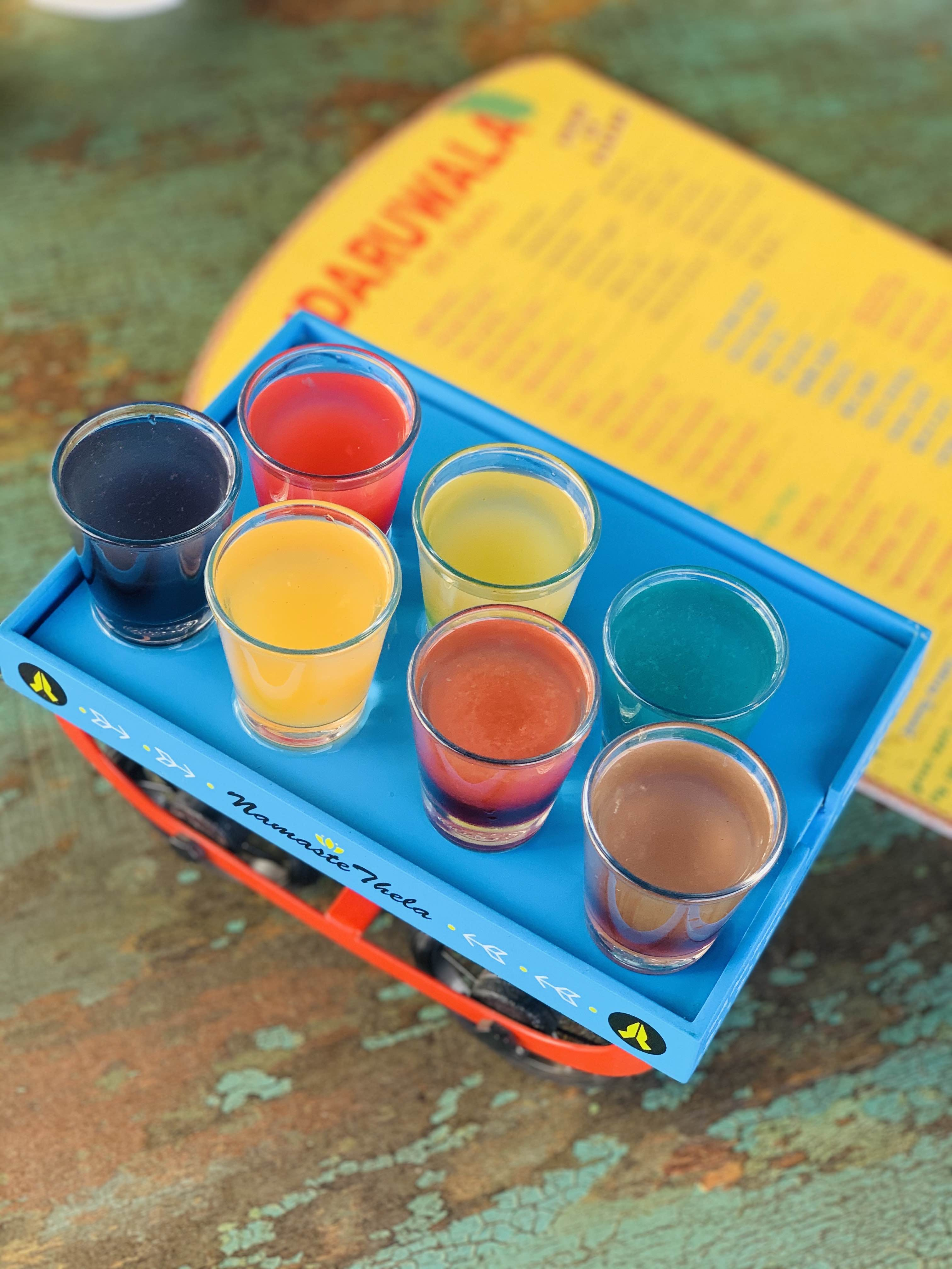 Orange,Yellow,Paint,Cup,Food coloring