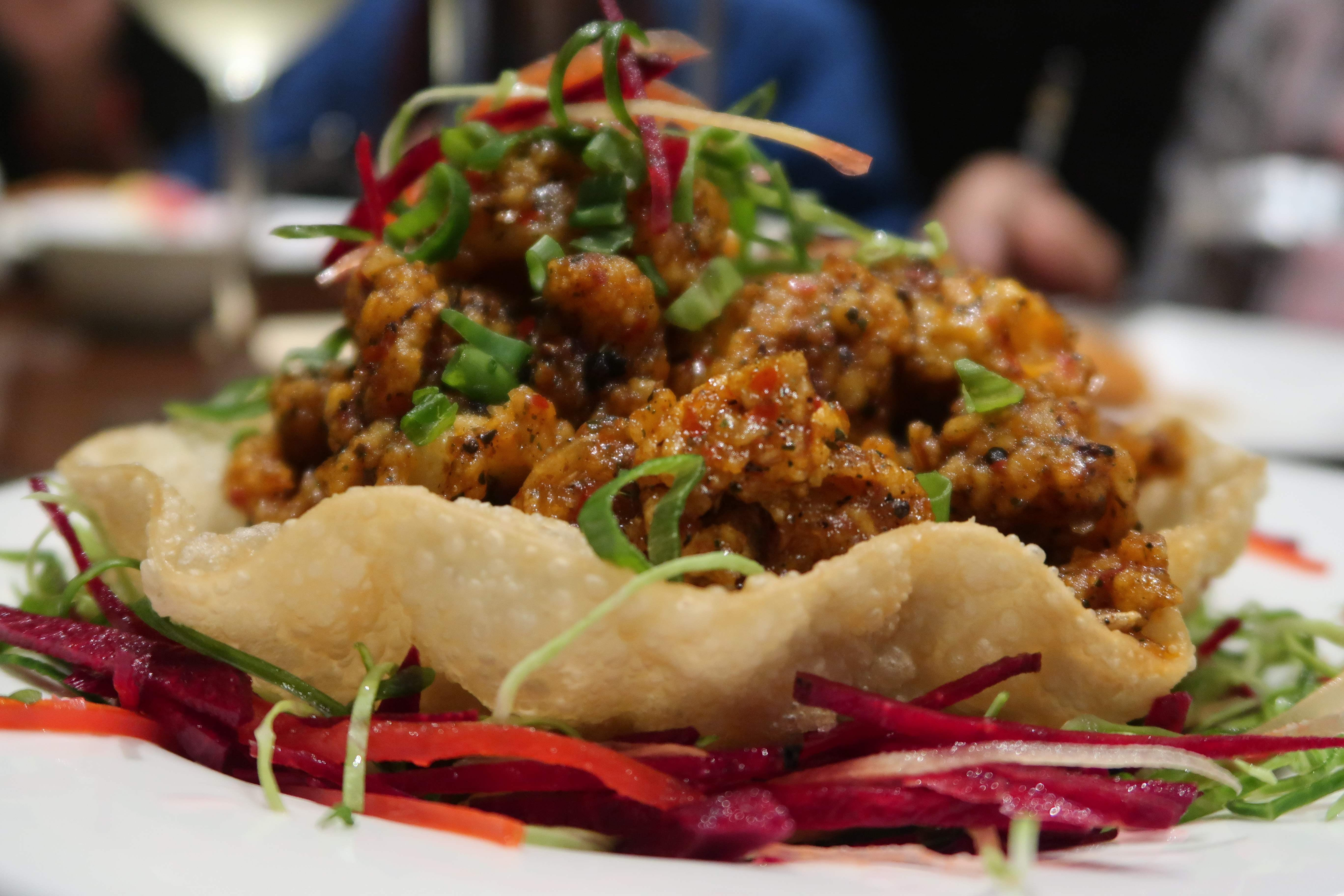 Food,Cuisine,Dish,Ingredient,Meat,Produce,Fried food,Soft-shell crab,Recipe,Larb