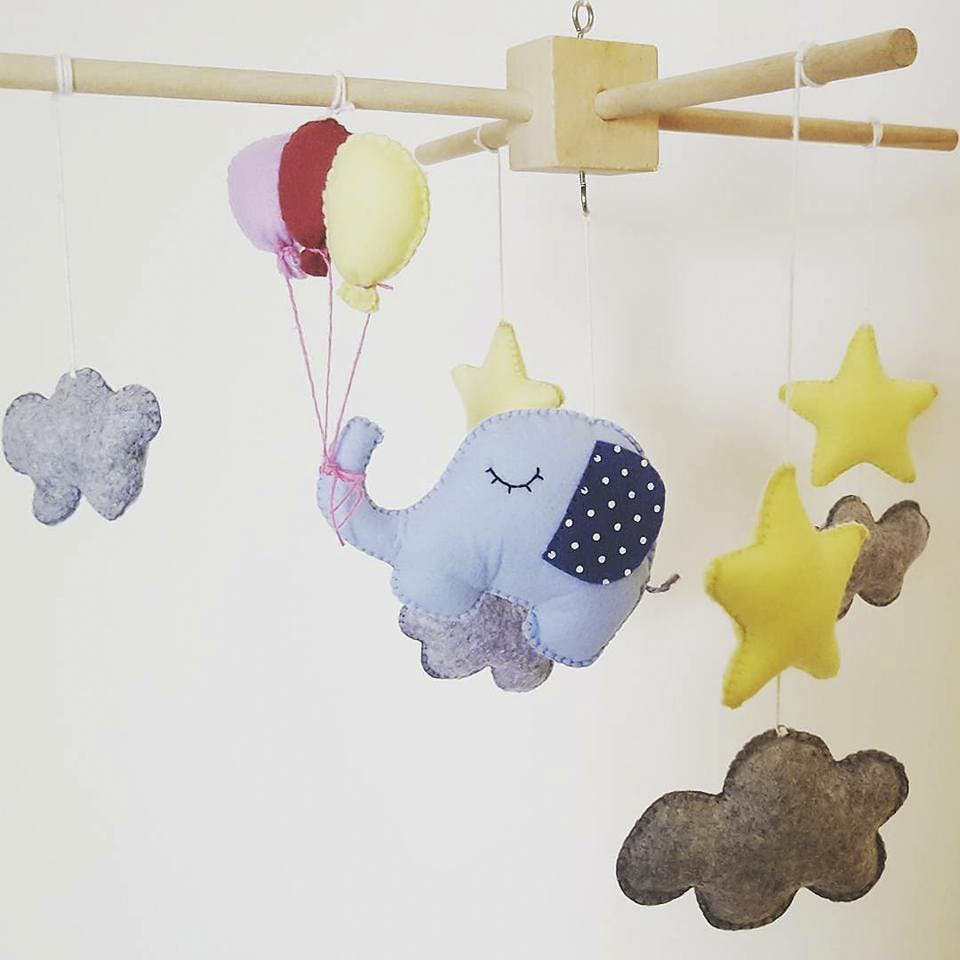 Product,Baby mobile,Baby toys,Cloud,Baby Products,Room,Ceiling,Illustration,Meteorological phenomenon