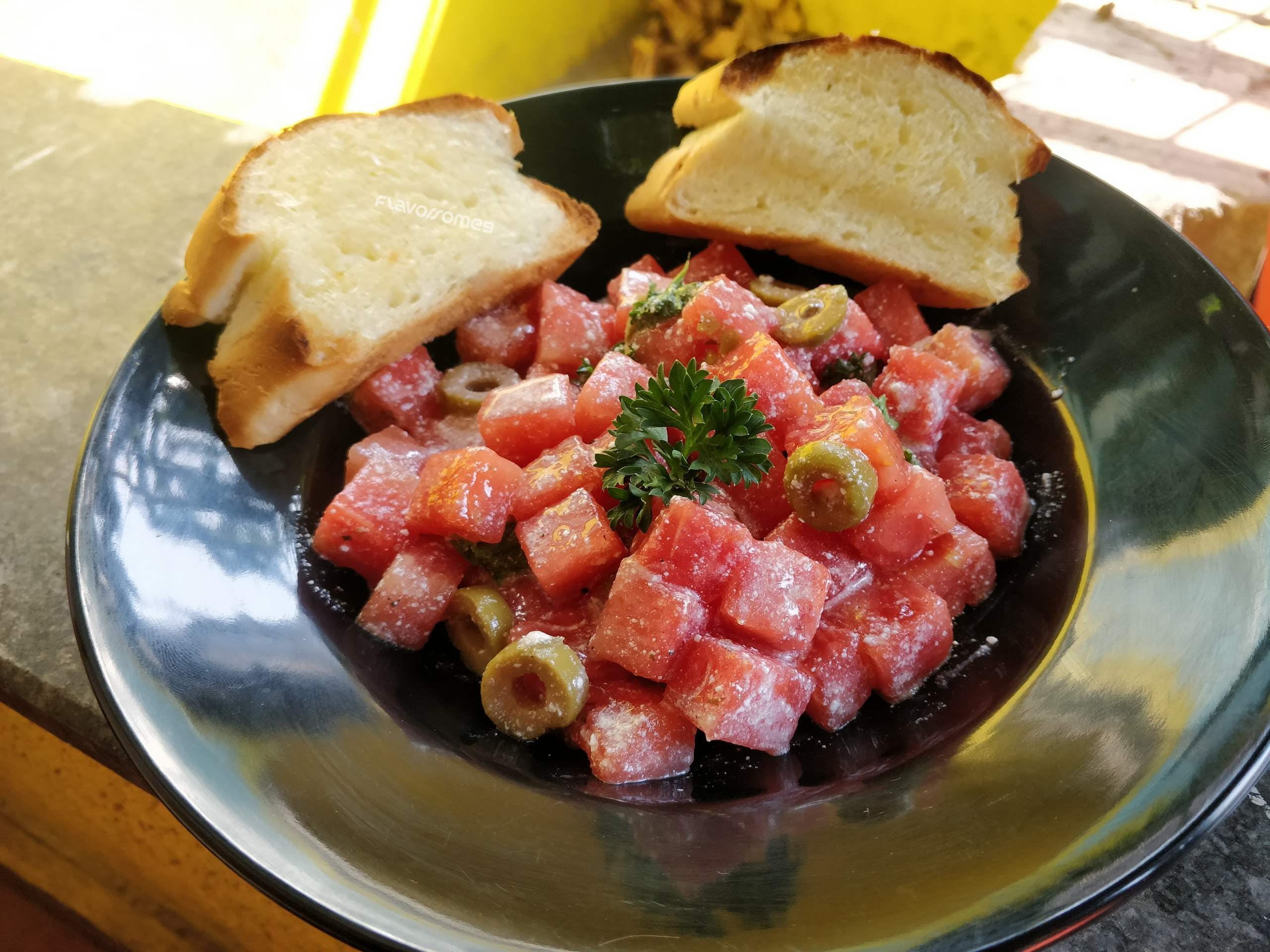 Drop By This Cafe To Have Their Special Watermelon & Feta Salad!