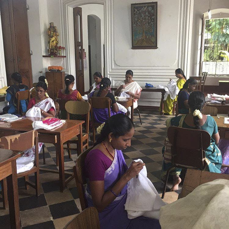 Pay A Visit To This Charming Convent In Pondicherry To Source Exquisite Embroidery