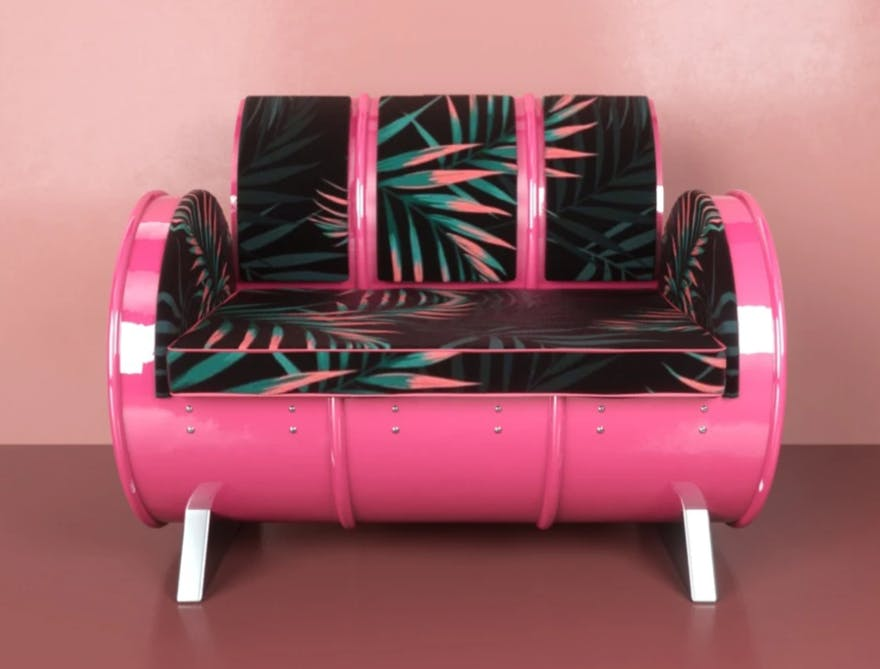 Pink,Product,Furniture,Magenta,Couch,Material property,Chair,Table,Wheel