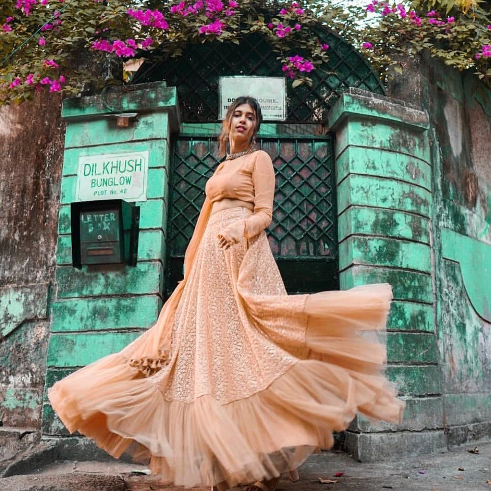 Dress,Gown,Clothing,Pink,Photograph,Shoulder,Formal wear,Beauty,Fashion,Skin