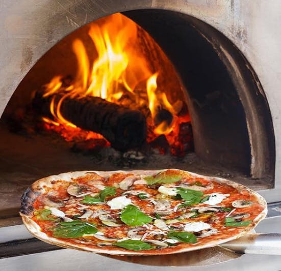 Dish,Pizza,Food,Cuisine,Masonry oven,Oven,Ingredient,Italian food,Recipe,Cookware and bakeware