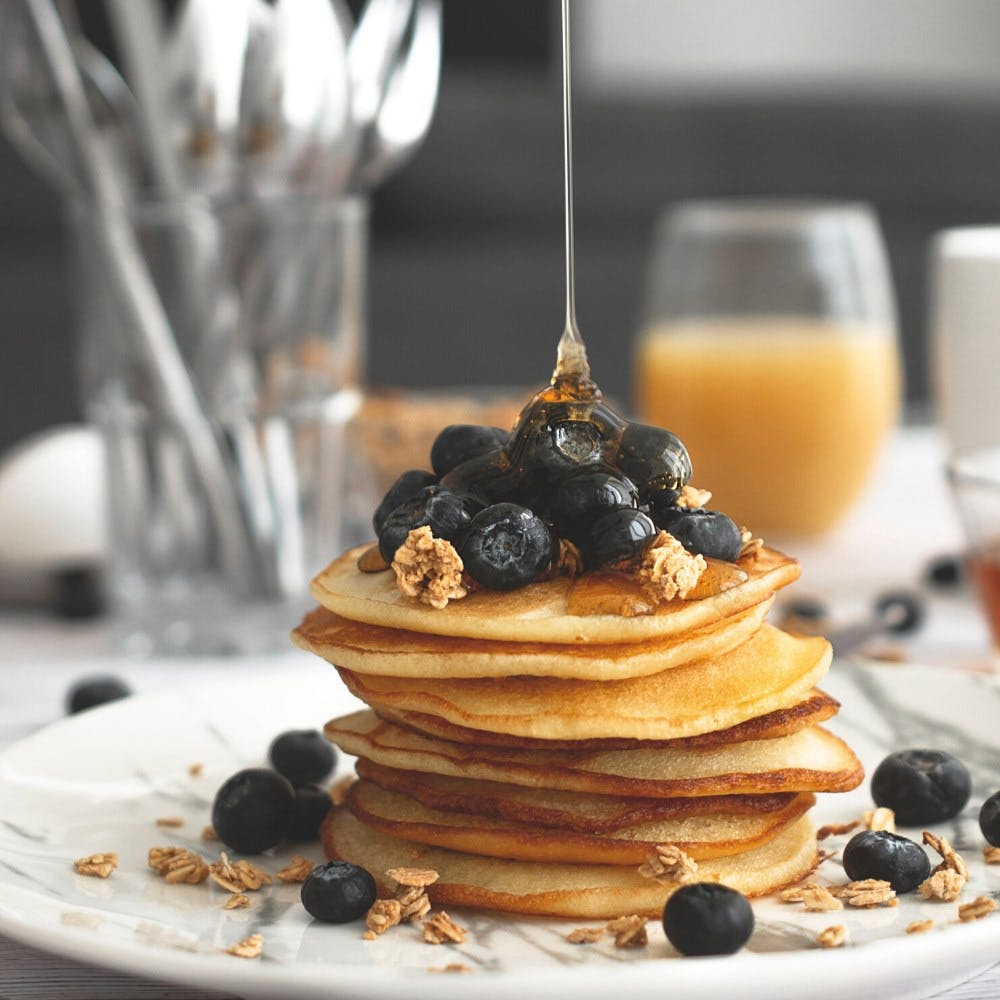 Dish,Food,Pancake,Breakfast,Cuisine,Ingredient,Meal,Dessert,Brunch,Blueberry