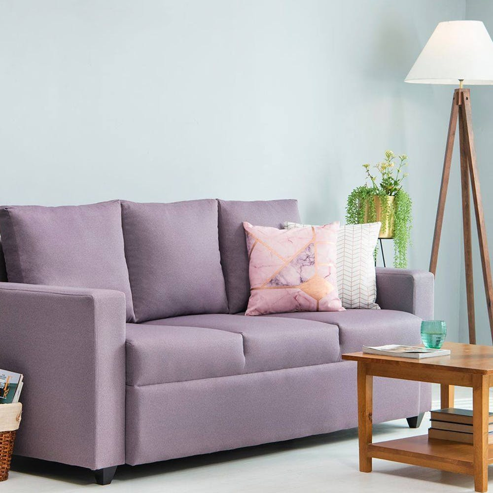 Furniture,Couch,Living room,Room,Sofa bed,Purple,Violet,Interior design,Table,studio couch