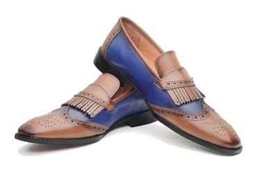 Mayfair Loafers - Tan/Blue