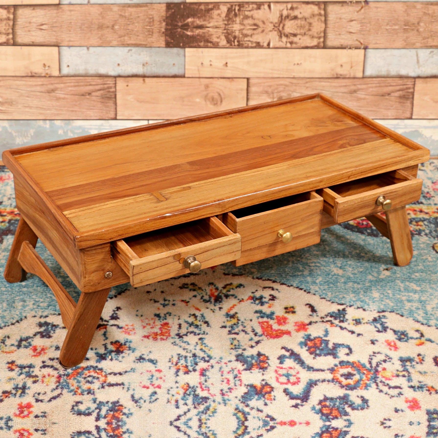 Teak Wood Laptop Table