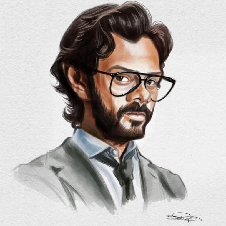 Hair,Illustration,Chin,Eyewear,Art,Forehead,Sketch,Drawing,Portrait,Moustache