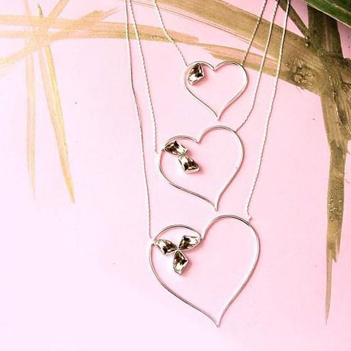 Pink,Heart,Fashion accessory,Jewellery,Leaf,Necklace,Twig,Illustration,Love,Ornament