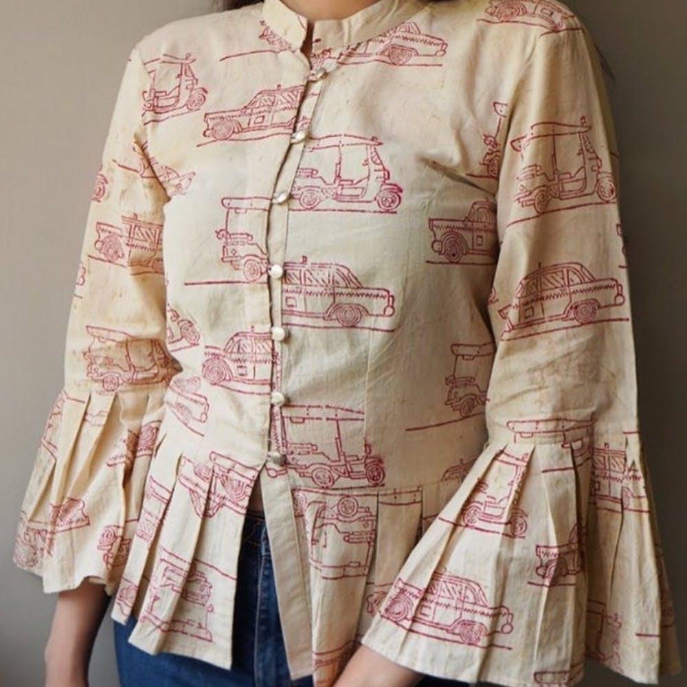 Clothing,Sleeve,Collar,Pink,Outerwear,Button,Shirt,Peach,Pattern,Beige