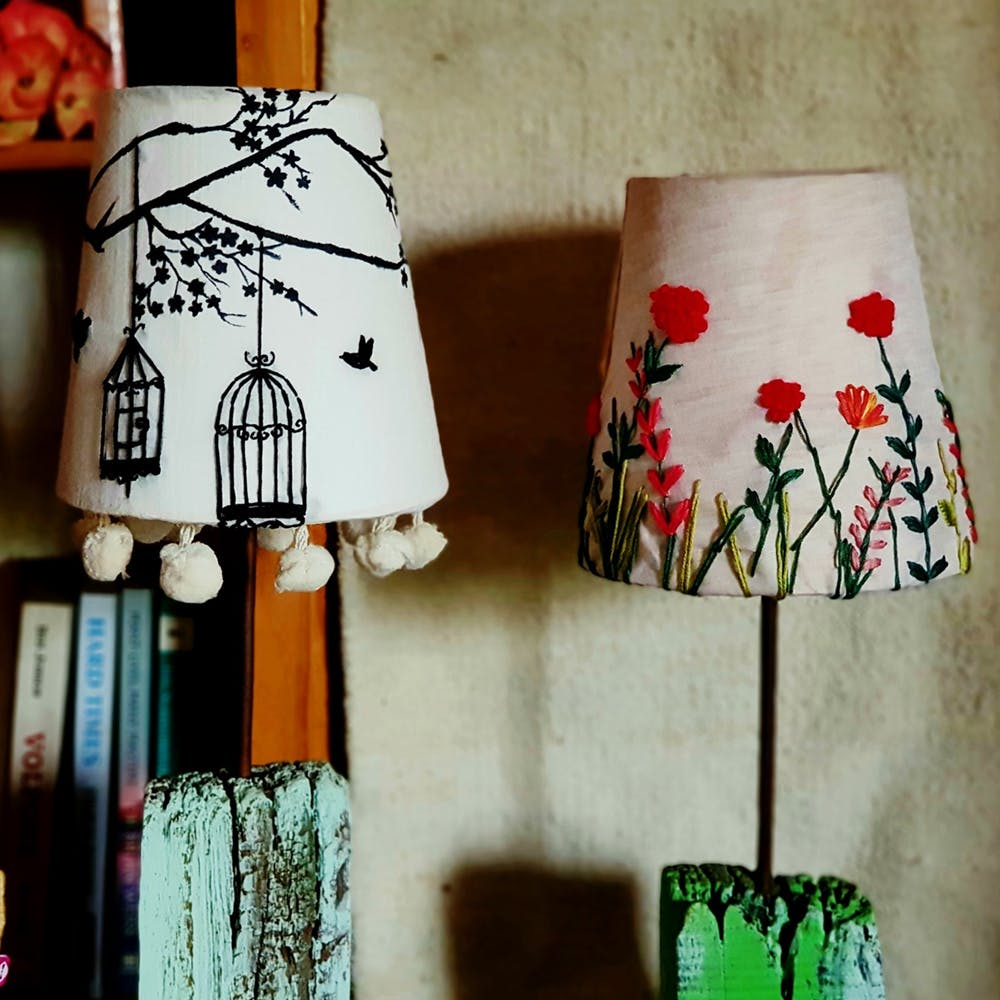 Lampshade,Lighting accessory,Tree,Home accessories,Lamp,Textile,Plant,Nightlight